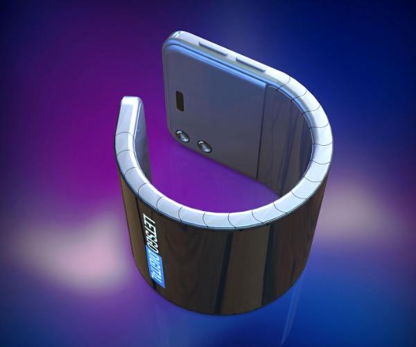 Samsung запатентував смартфон, який можна носити на руці