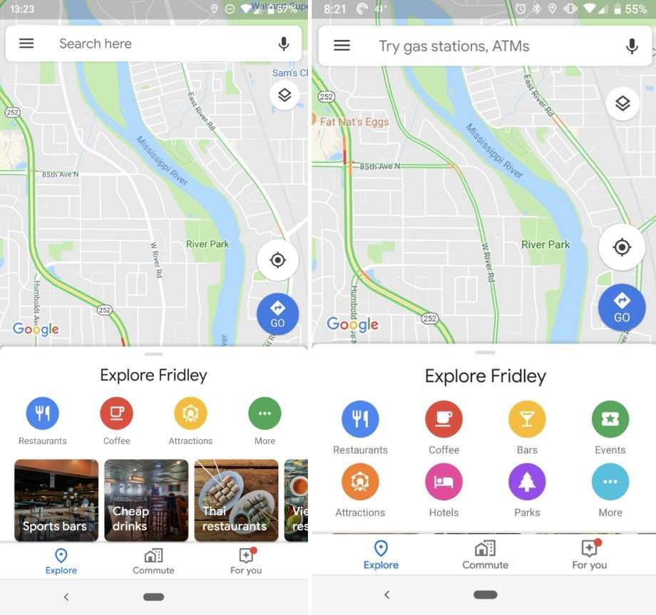 Google зробив інтерфейс Google Maps зручнішим