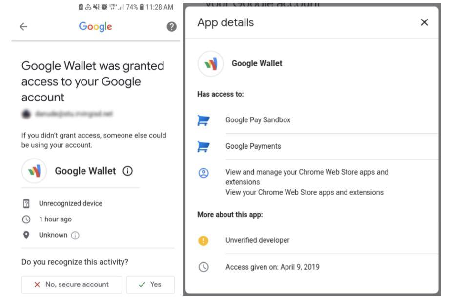 Несправжній Google Wallet отримує доступ до облікових записів