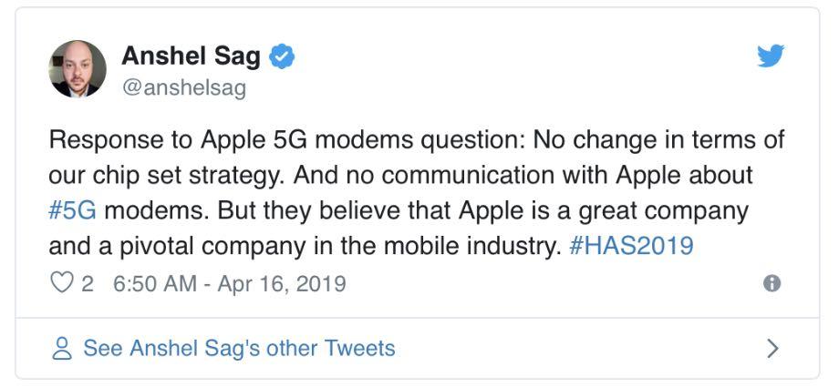 Huawei підтвердив, що не постачатиме Apple 5G модеми