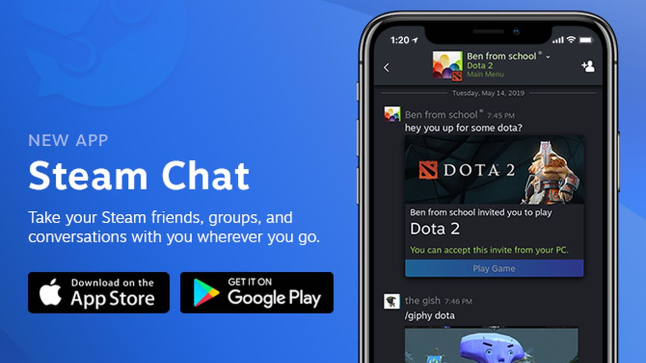 Steam Chat вийшов для iOS та Android