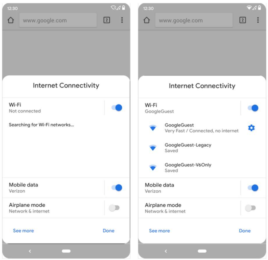 Android 10 Q полегшить процес підключення до мережі