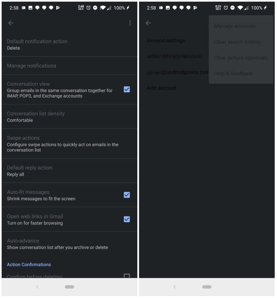 Gmail для Android отримає темну тему