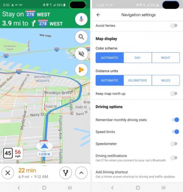 Google Карти отримали функцію спідометра