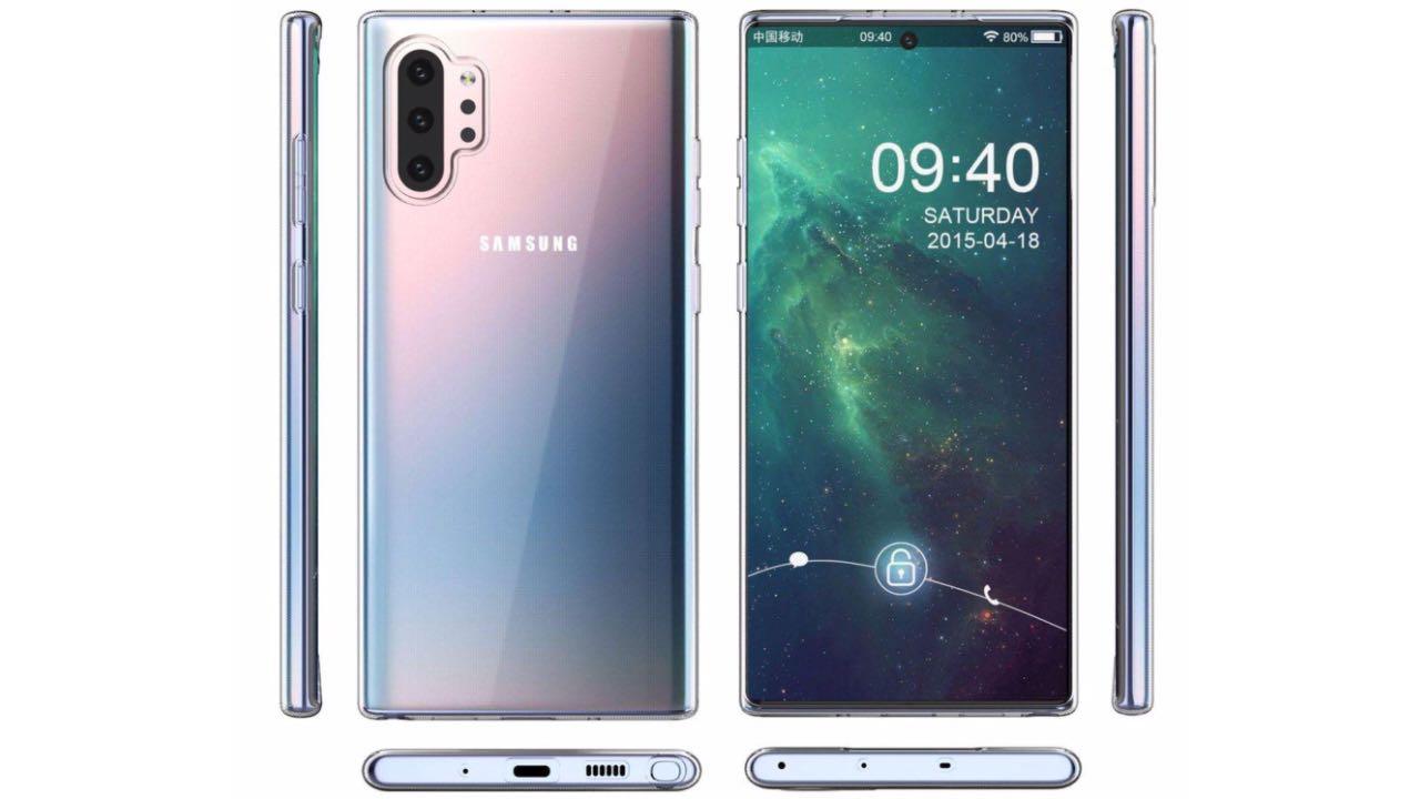 В мережі опублікували свіжі рендери Samsung Galaxy Note10 Pro