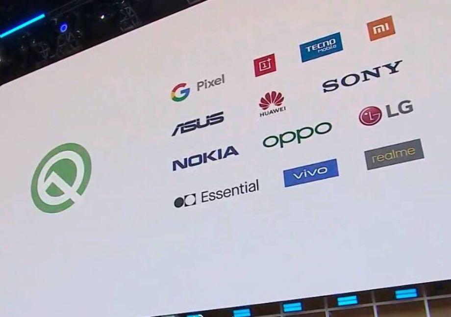 Android 10 Q: відомий перелік компаній, які першими отримають оновлення