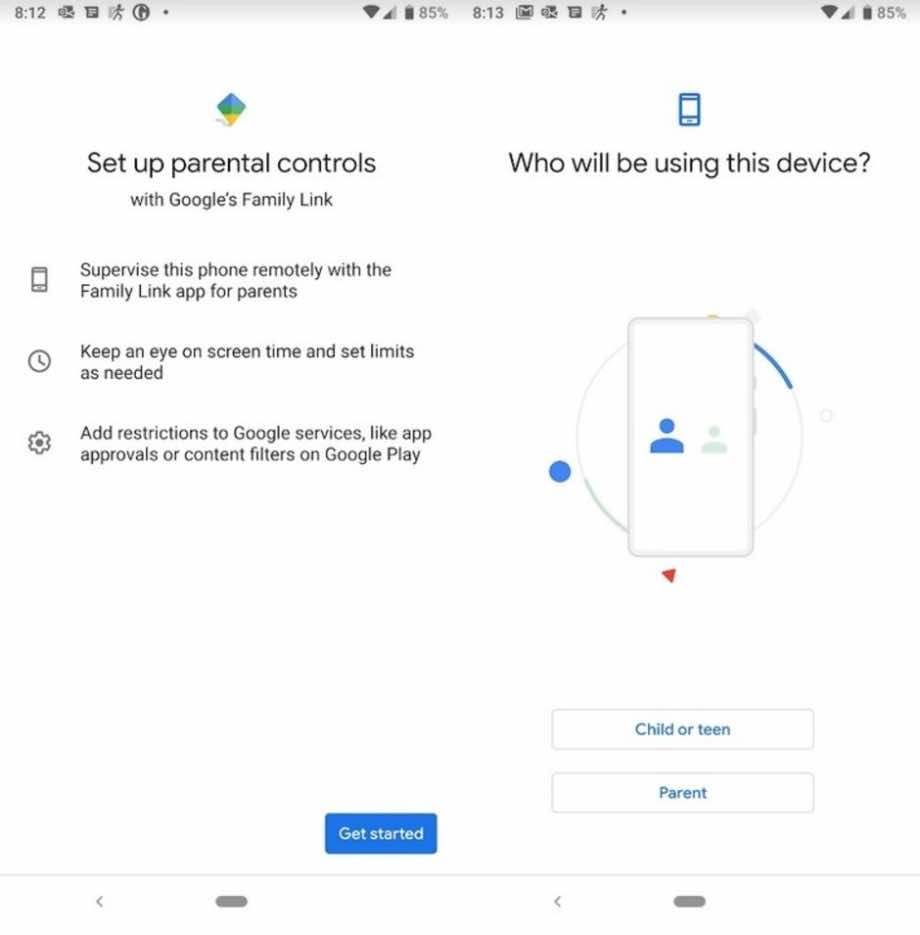 Digital Wellbeing & Parental controls