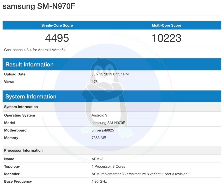 Samsung Galaxy Note10 отримає новий чип Exynos 9825