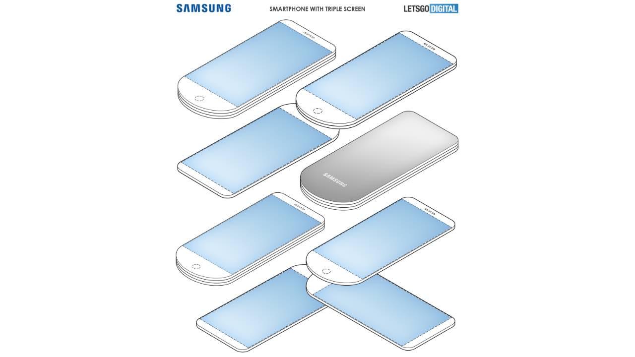 Samsung запатентував новий футуристичний смартфон