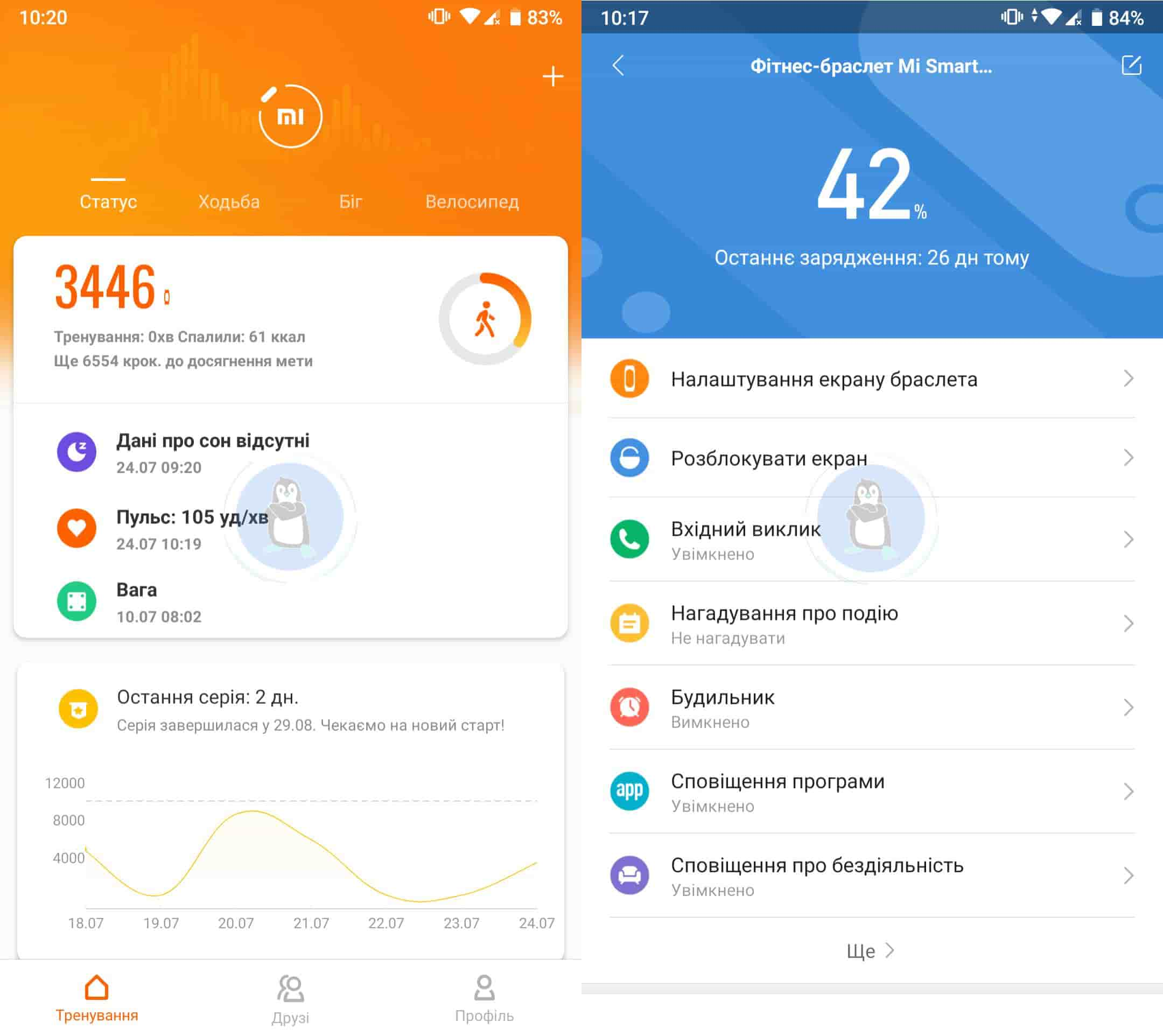 Xiaomi Mi Health vs Xiaomi Mi Fit: в чому різниця?