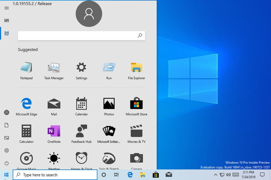 Windows 10 отримає новий дизайн меню
