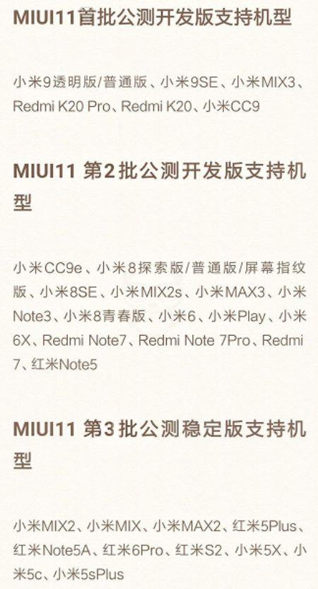 MIUI 11: відомий перелік смартфонів, які отримають оновлення