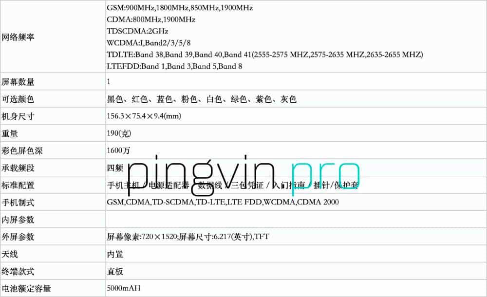 Xiaomi Redmi 8 - TENAA