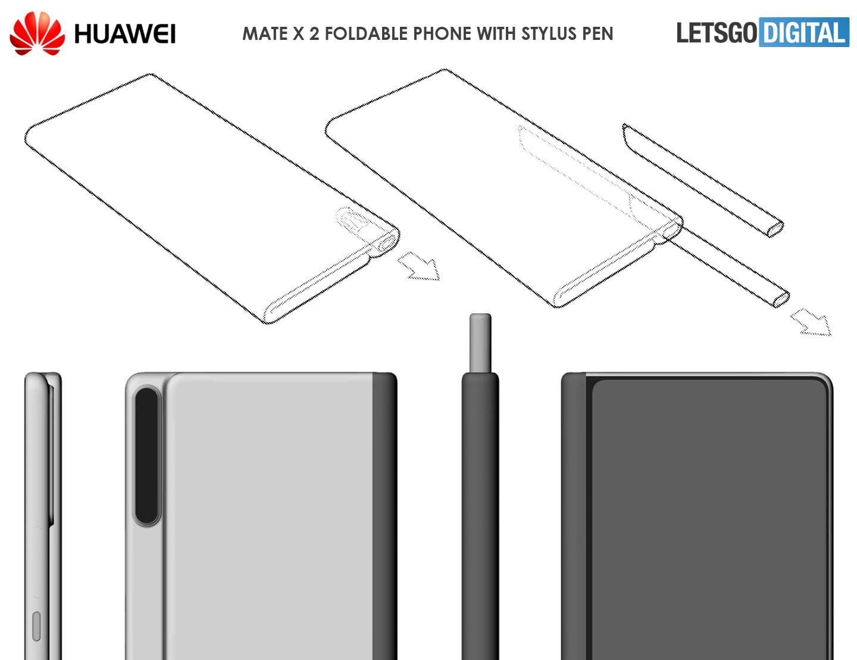 Huawei Mate X2 – патент смартфона