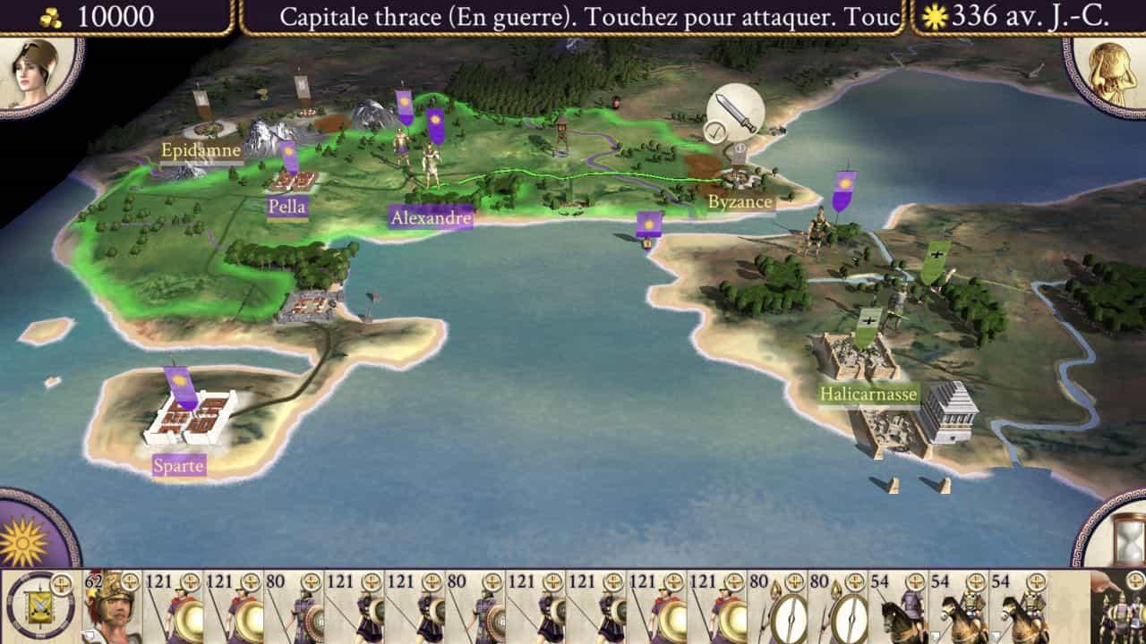 Ґеймплей гри Rome: Total War – Alexander для iOS і Android