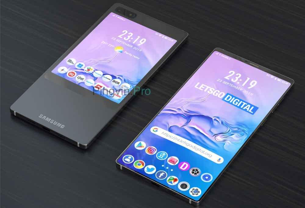 Рендер Samsung Galaxy S11e на основі патента
