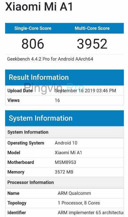 Xiaomi Mi A1 ще може отримати Android 10