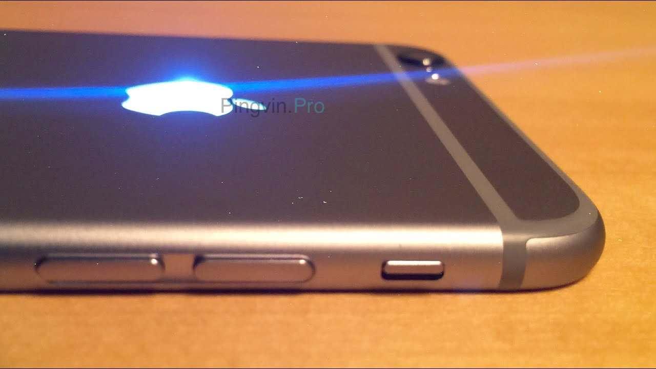 iPhone 2020 логотип яблука підсвічується