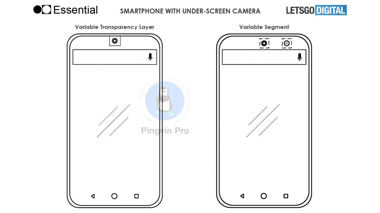 Essential розробляє смартфон з підекранною фронтальною камерою