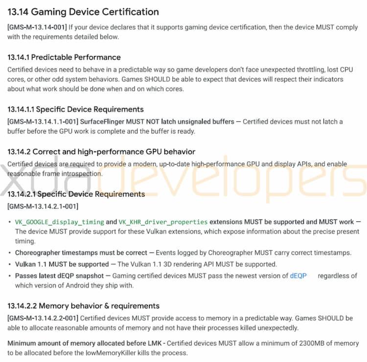 Google працює над сертифікацією ігрових смартфонів