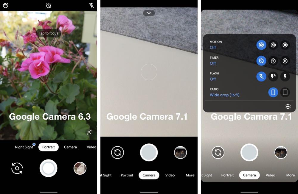 Google Camera 7.1 отримала новий інтерфейс та додаткові можливості