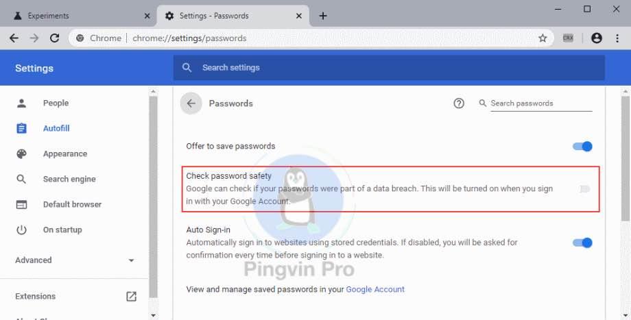 Google Chrome 78 інструмент паролів