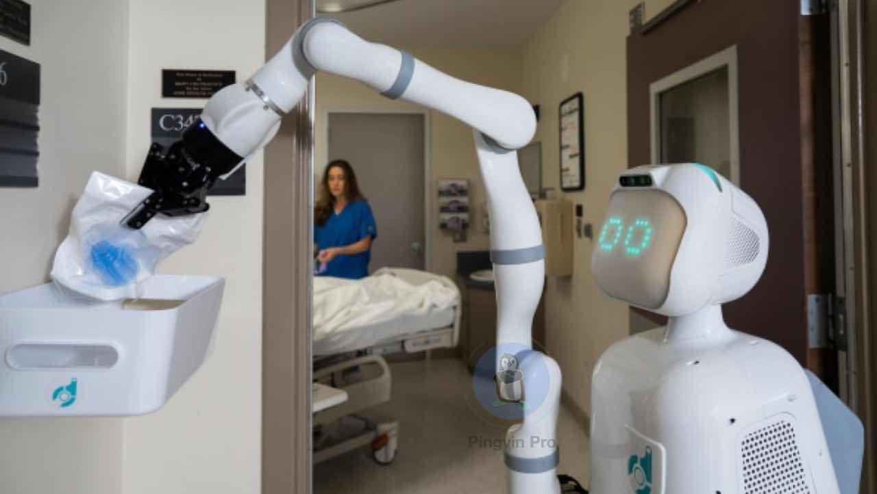робот Moxi допомагає в лікарні