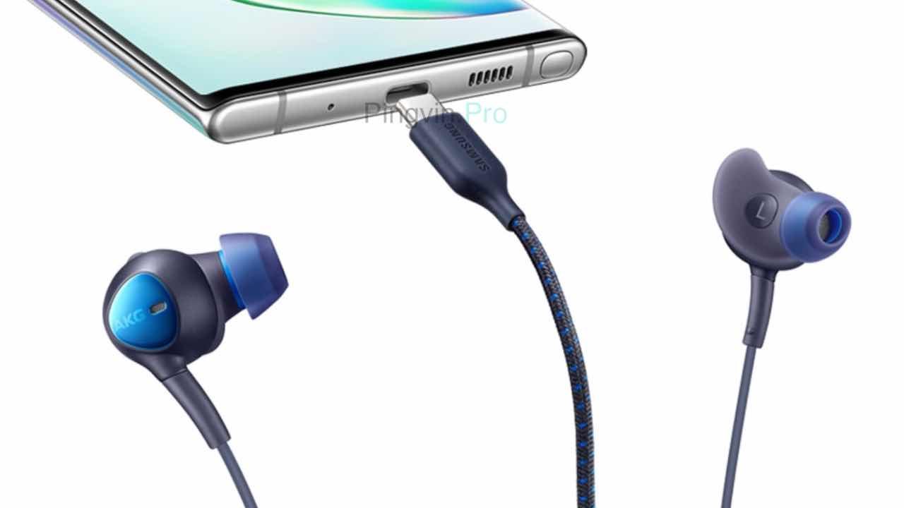 Samsung ANC Type-C Earphones (2019) і смартфон Galaxy