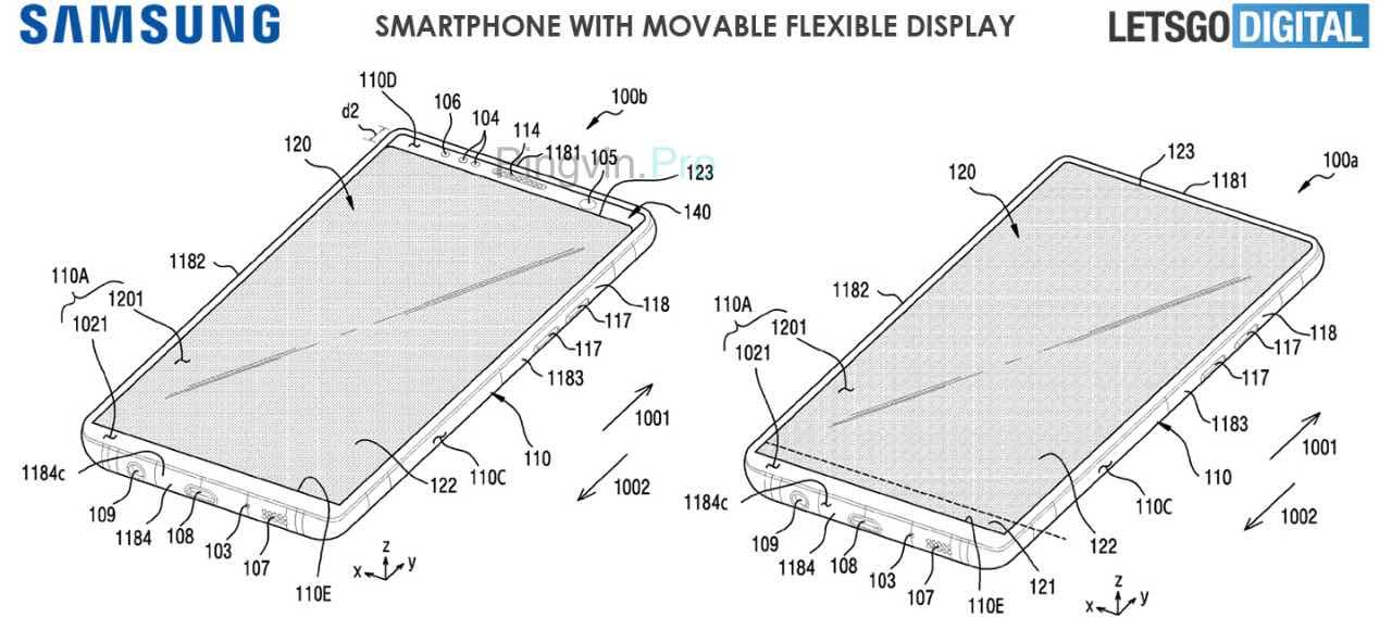 Samsung запатентувала смартфон з рухомим дисплеєм