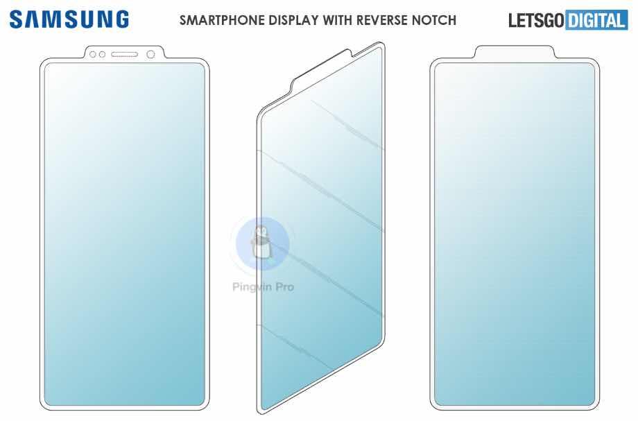 Samsung патент смартфона із зовнішньою виїмкою