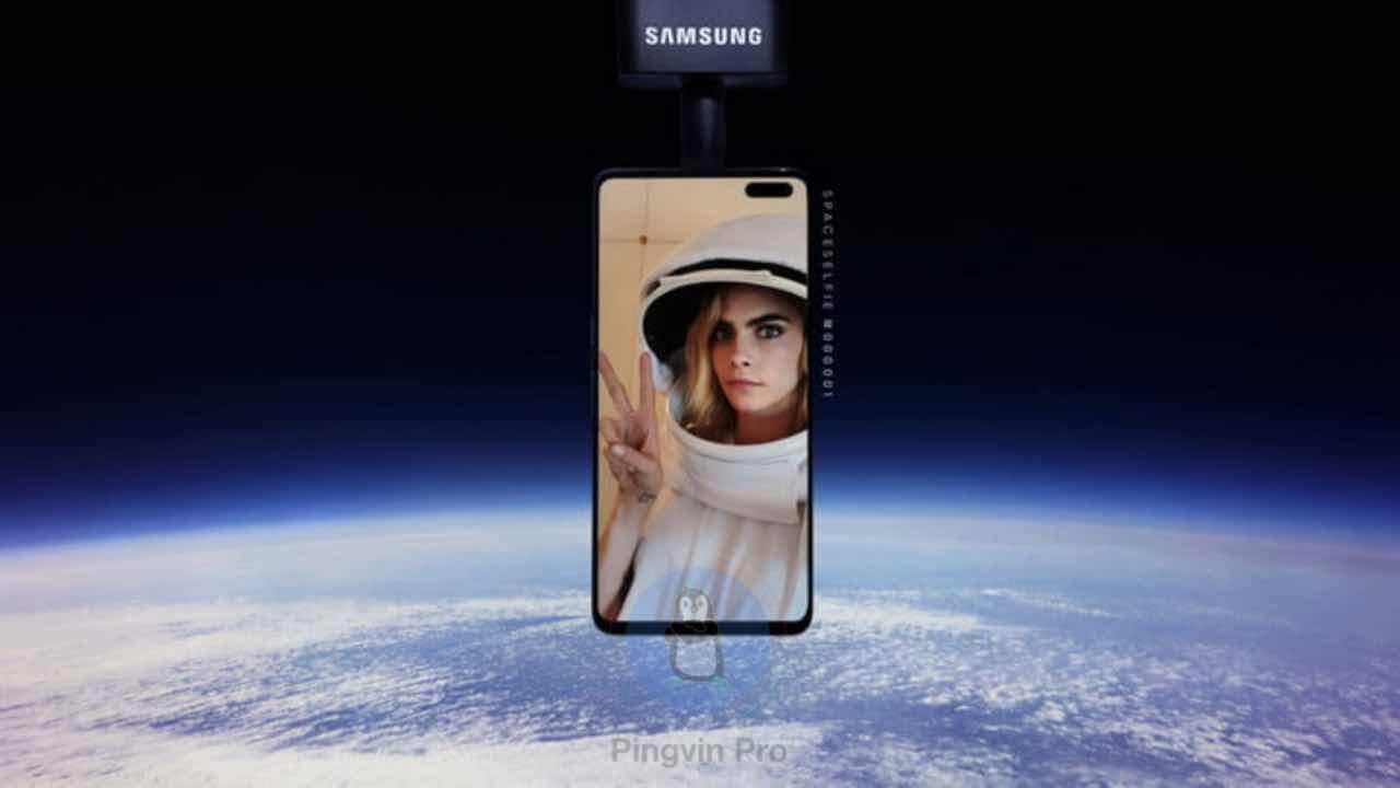 Samsung Galaxy S10 неочікувано впав з космосу