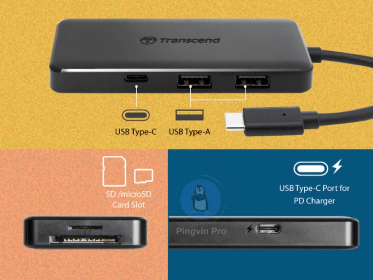 USB-хаб Transcend HUB5C