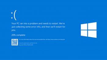 Windows 10 blue screen error (синій екран смерті)