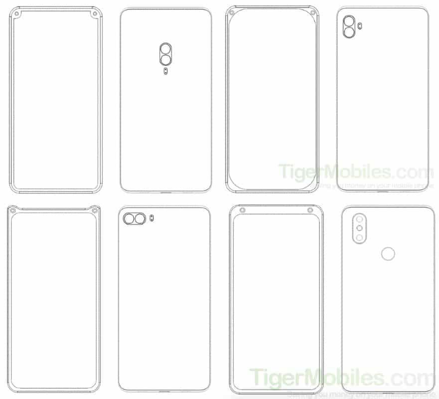 Xiaomi патент для фронтальної камери смартфона