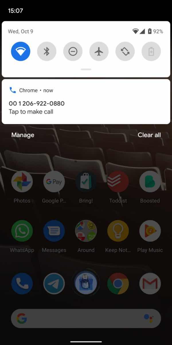 Дзвінки з Google Chrome для ПК на смартфон