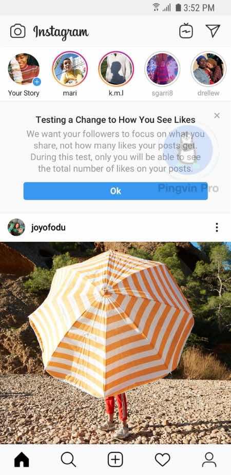 Instagram вирішив відключити лайки і в Україні
