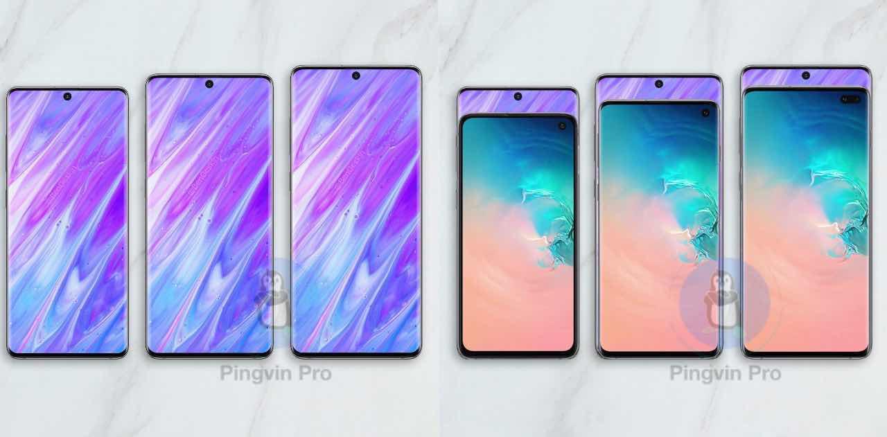 Samsung Galaxy S11 та Samsung Galaxy S10
