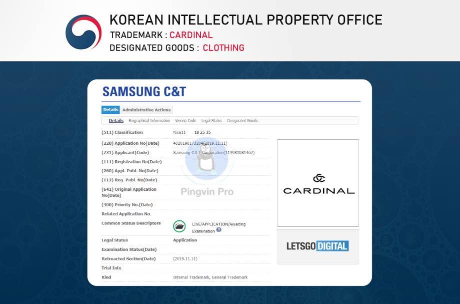 Samsung вироблятиме розумний одяг під назвою Cardinal