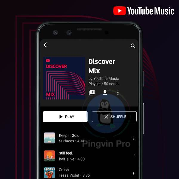 YouTube Music Discover Mix, New Release Mix і Your Mix