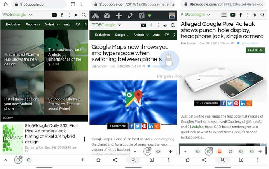 Chrome для Android тестує новий дизайн для вкладок