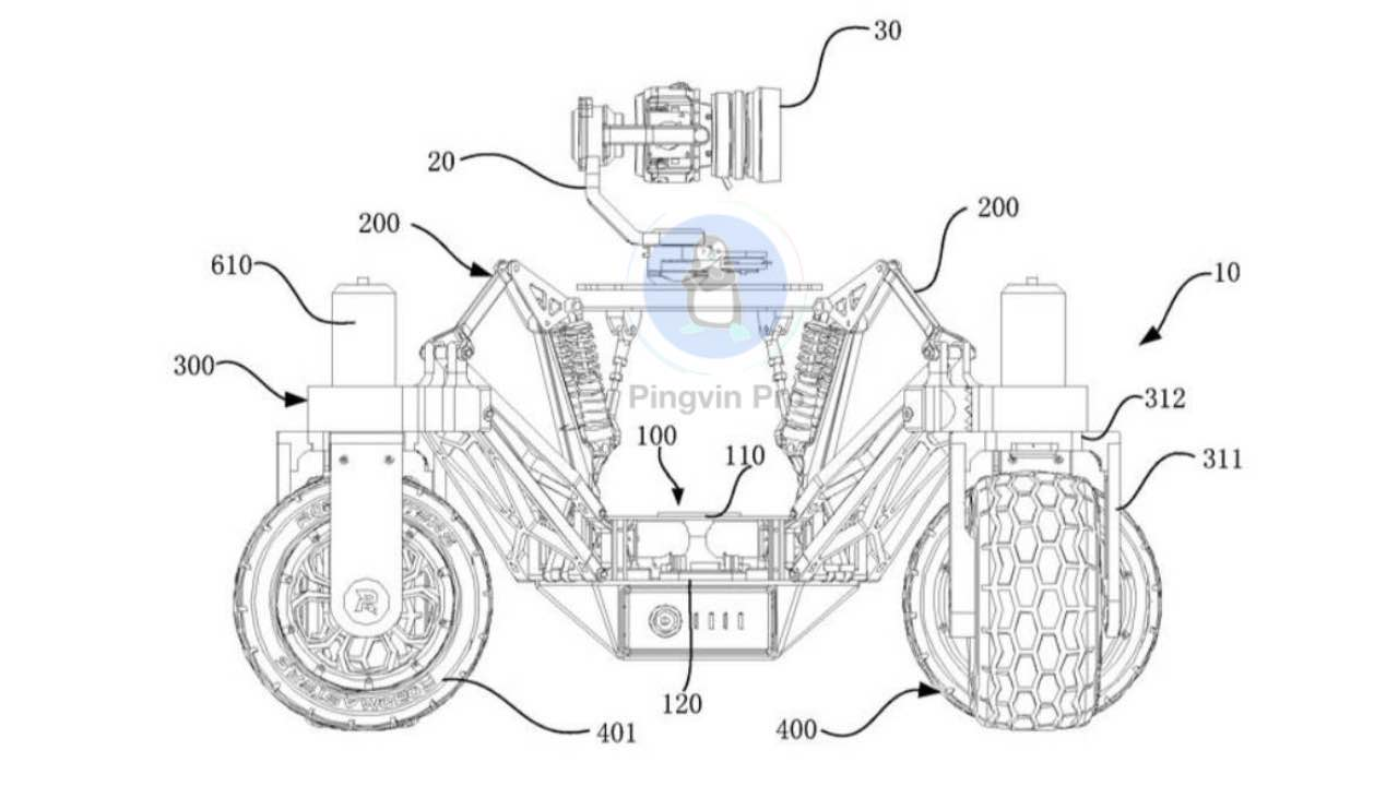 DJI патент авто з камерою