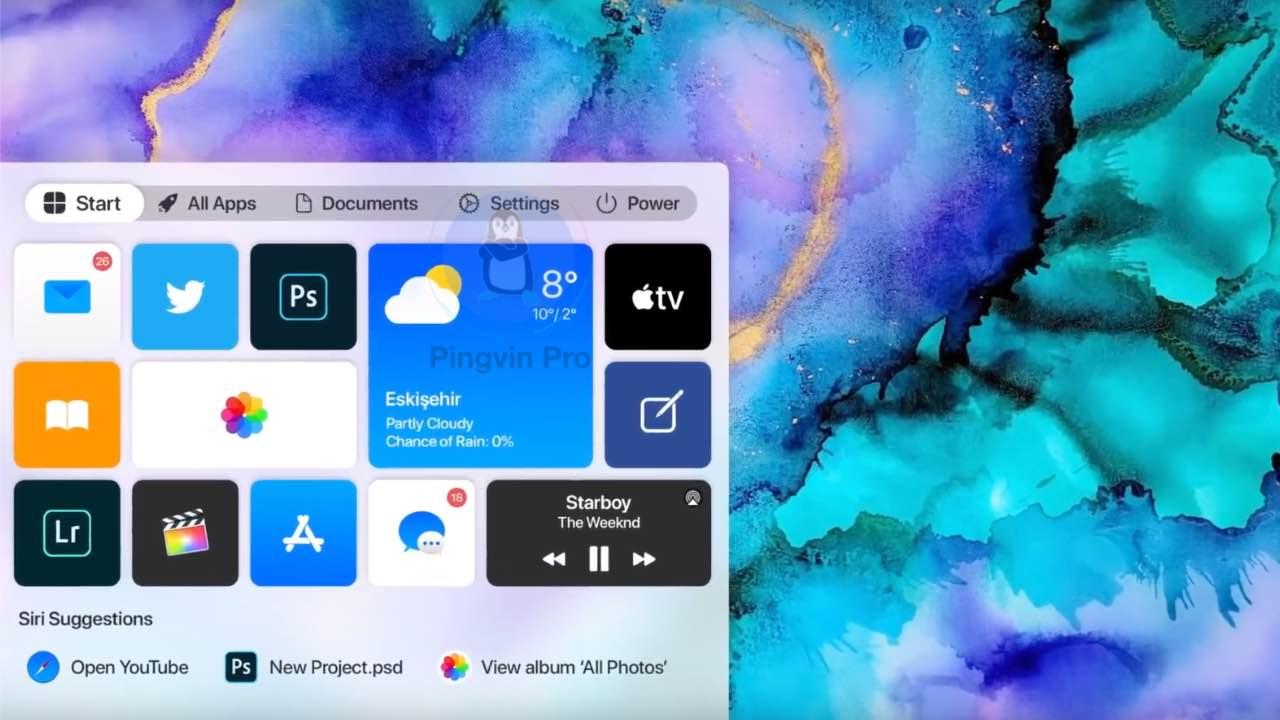 Windows 10 в стилі macOS