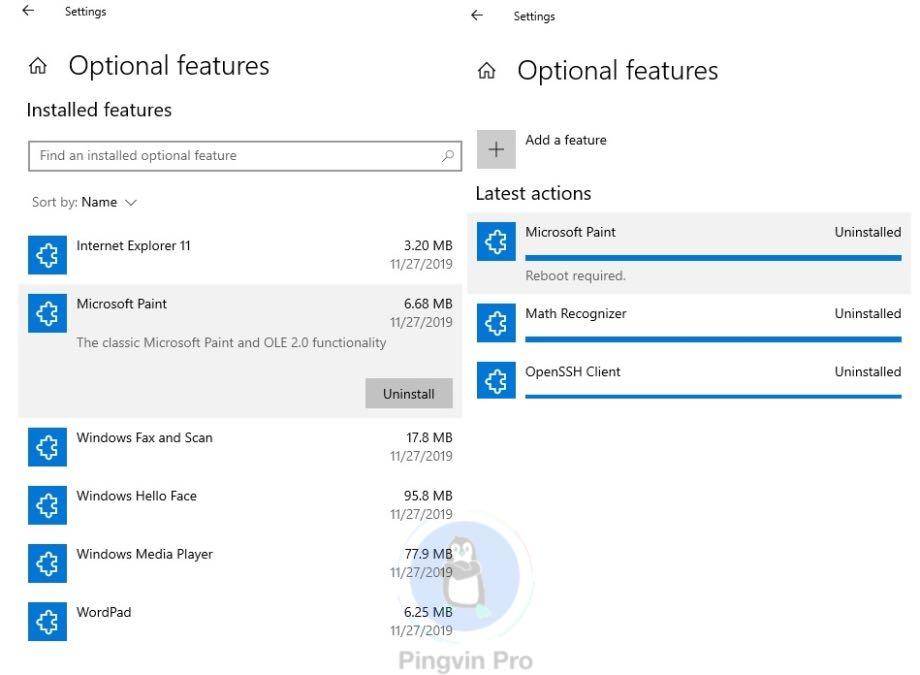 Paint та WordPad у Windows 10 більше не будуть обов'язковими
