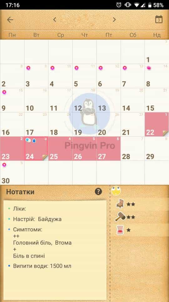 Менструальний календар