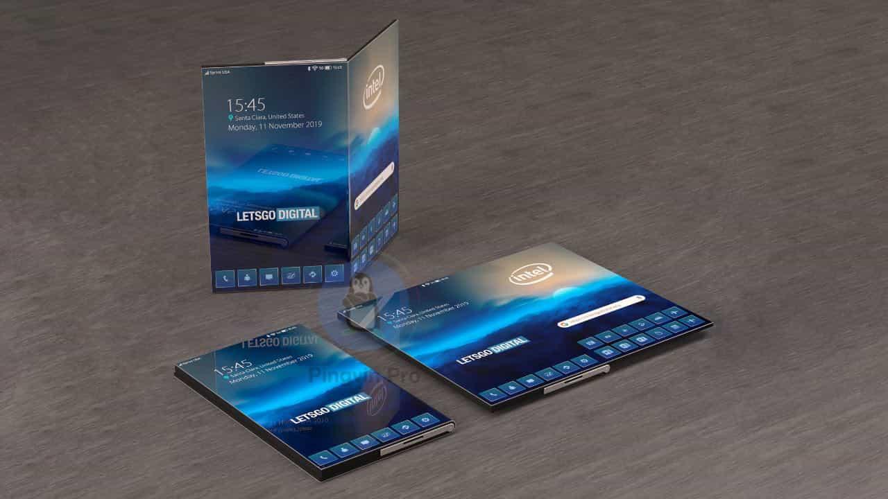 Складний смартфон Intel може бути планшетом