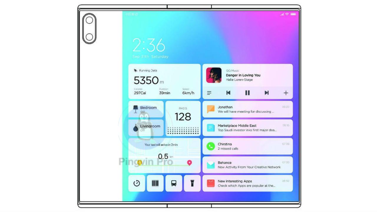 Xiaomi Mi Mix Fold патент