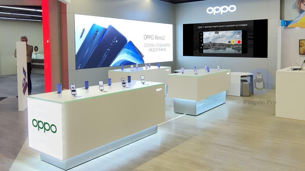 OPPO запускає в Україні перший магазин у форматі shop-in-shop