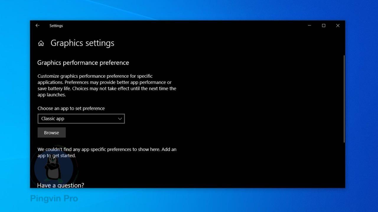 Windows 10 20H1 GPU