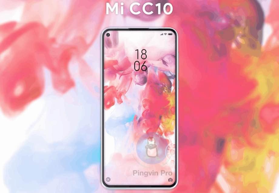 Неофіційний рендер Xiaomi Mi 10 Lite