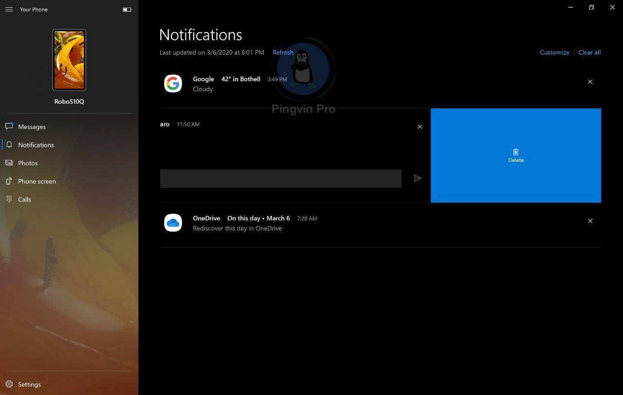 Your Phone для Windows 10 отримав нову функціональність
